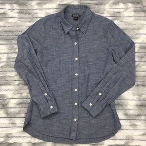 Lucky Brand long sleeve button down chambray shirt